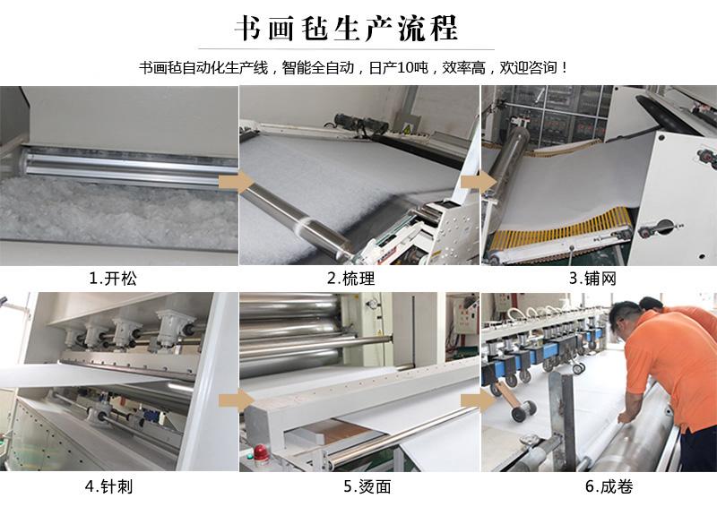 书画毡生产流程