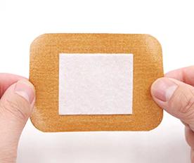 膏药吸水棉片应用于创可贴