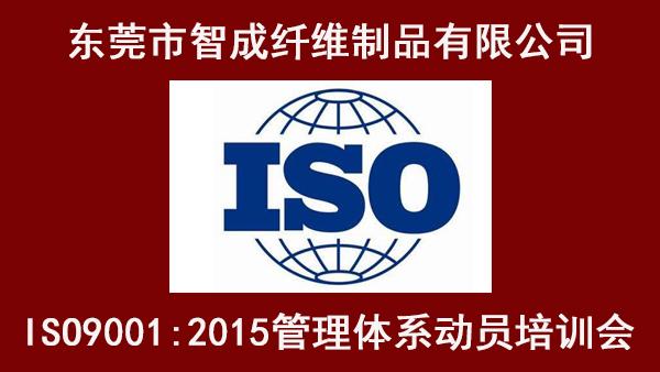 东莞市智成纤维制品有限公司ISO管理体系动员培训大会