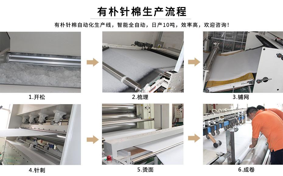 有朴针棉生产流程