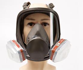防毒面具剖面图
