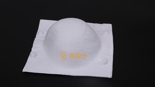 杯型口罩针刺棉与平面口罩相比