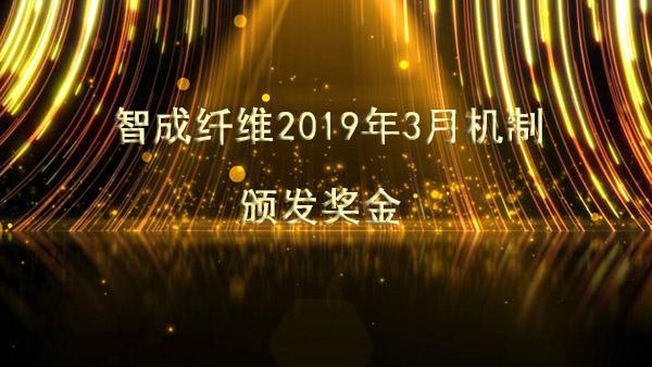 智成纤维2019年3月机制颁发奖金啦